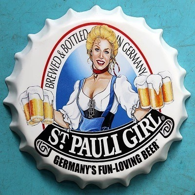 Bar Decorative Sign Beer Signs Wall Decoration with Girl