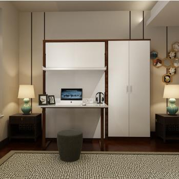 New Design Home Furnitures Single Murphy Wall Bed With Desk