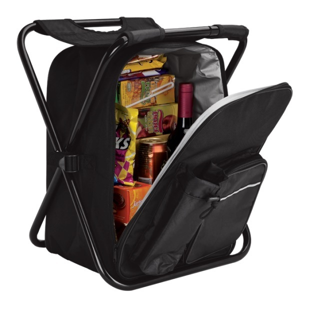 Folding Chair/Stool Food Drink Lunch Shopping Outing/Fishing Camping Cooler Bag/Backpack