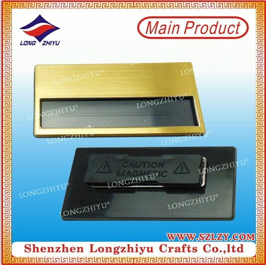 Cheap Custom Metal Uniform New Style Blank Name Badge