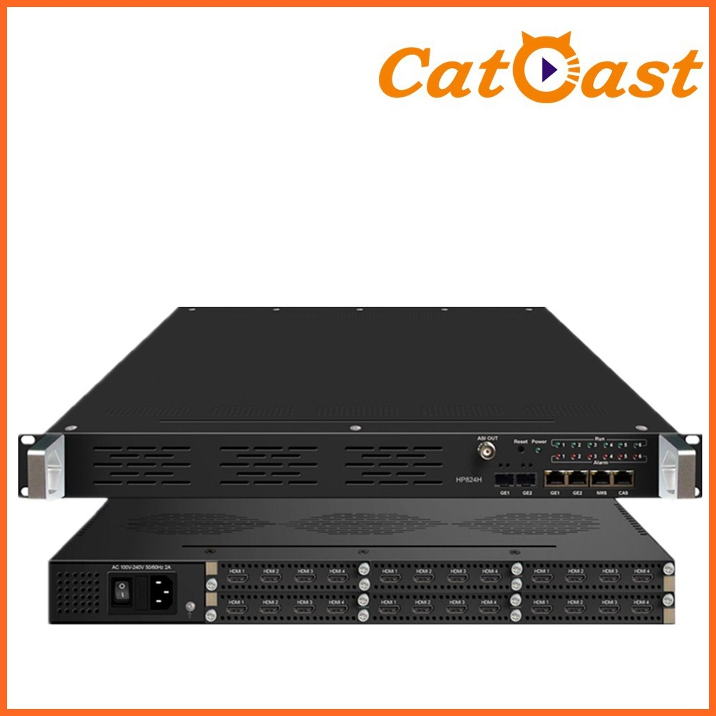 24xhdmi Channels Input 24in1 HD MPEG4/H. 264 HDMI Encoder with Asi, IP Output