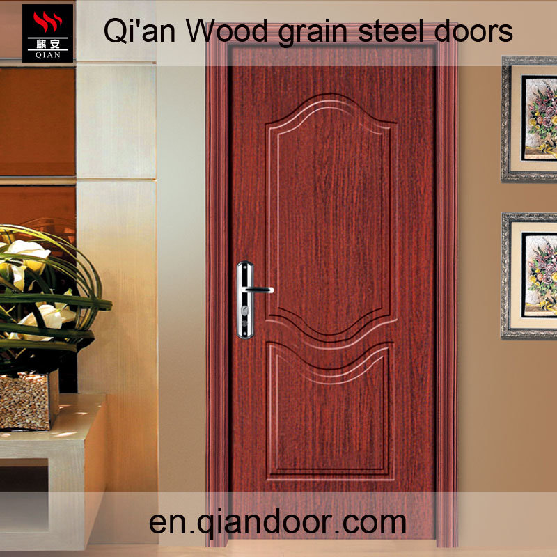 Black Walnut Veneer Steel Door with Fireproof Board