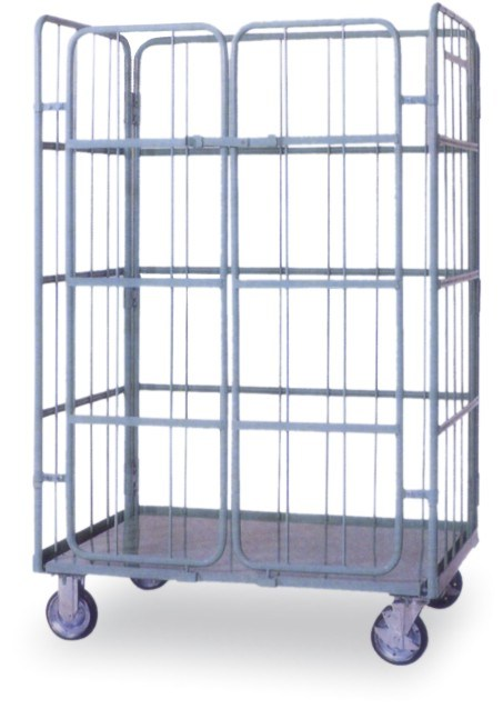 Warehouse Steel Storage Rolling Cage