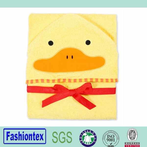 Luvable Friends Animal Duck Hooded Bath Towel Child Hooded Towel