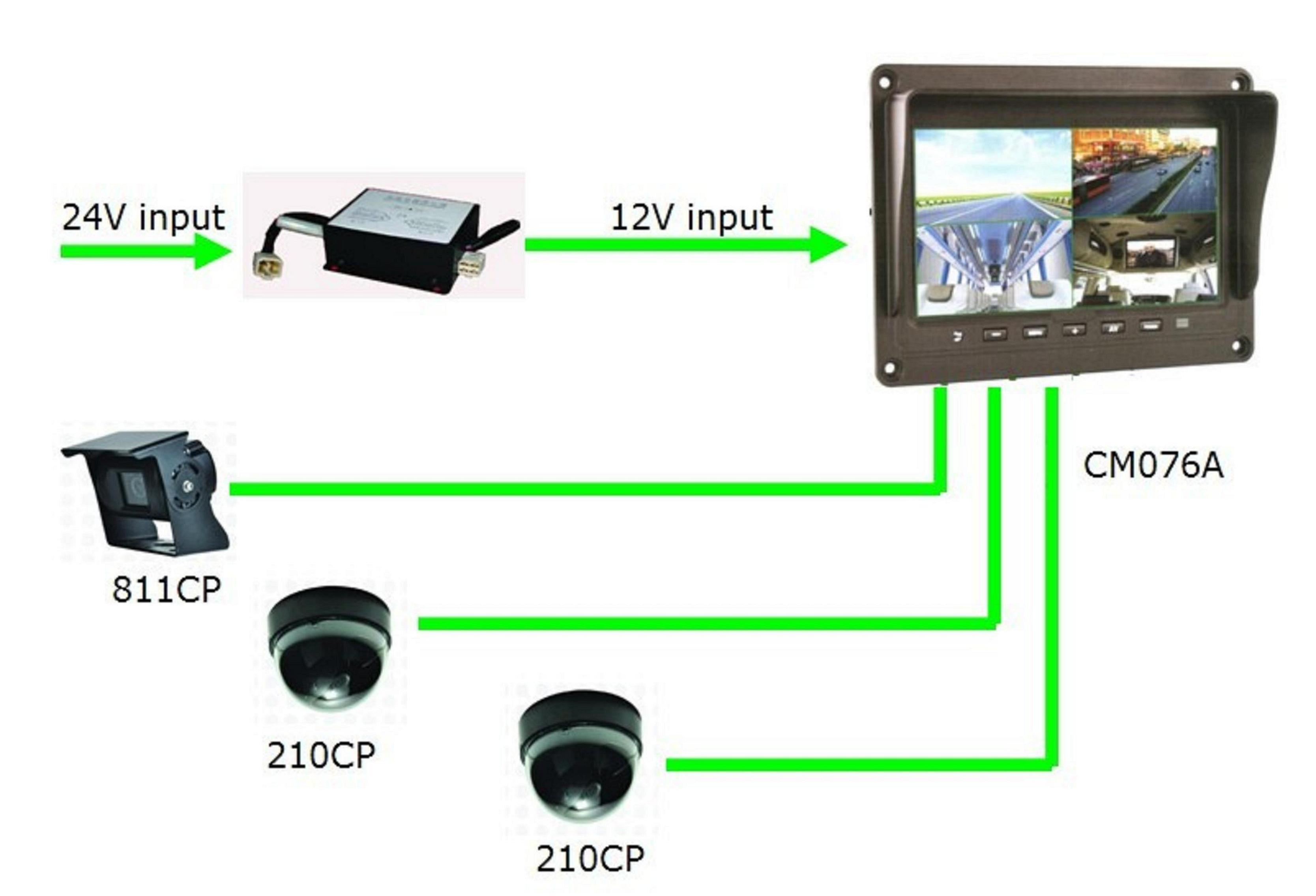 Car Rear View LCD Monitor System Reversing Camera