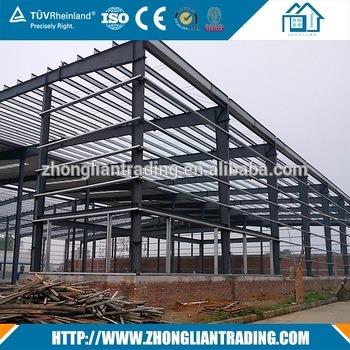 Prefabricated Pre Engineered Steel Structure Work Shop