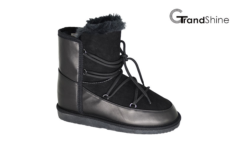 Women′s New Arrival Lace up Snow Boots
