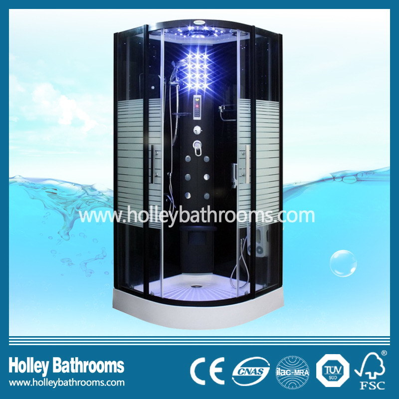 Excellent Multifunctional Steam Shower Room with Striated Translucent Glass Door (SR117B)