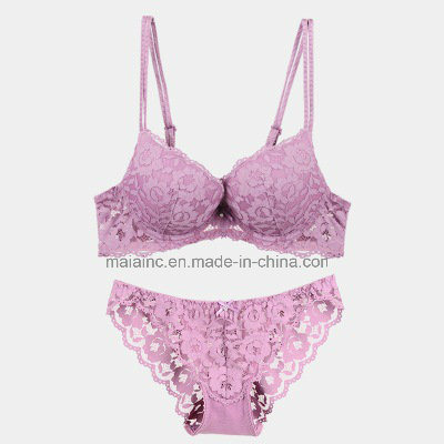 Sexy Royal Lace Push-up Ladies Bra and Panty