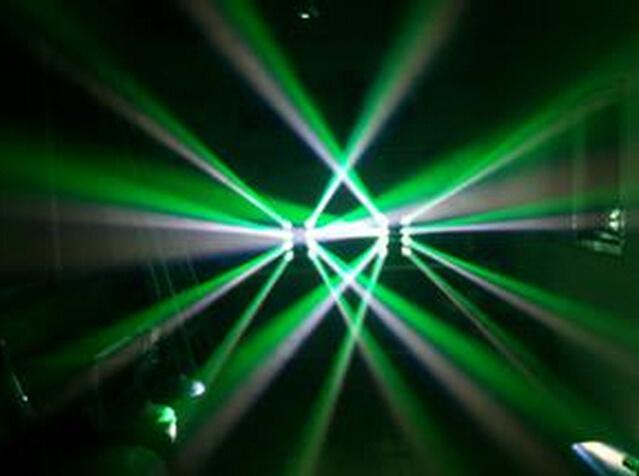 RGBW LED Infinite Moving Spider Light