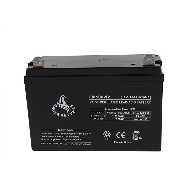 12V 100ah Mf AGM Lead Acid Rechargeable Battery for UPS/Solar