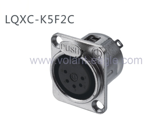 High Quality Audio Connectors 5-Pin Female XLR Chassis with RoHS