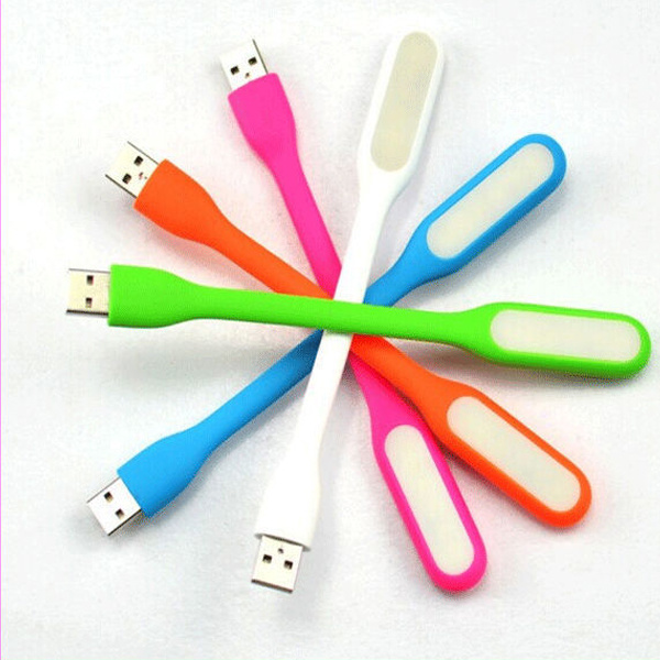 Flexible LED Night Light USB Charger for Comupter/Xiaomi Power Bank, Micro USB LED Light