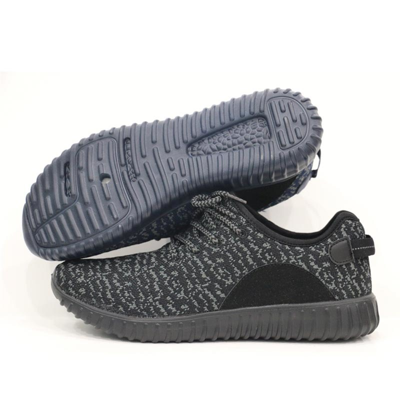Knit Fabric Upper Cheap Sports Shoes Running Shoes Flynit Vamp