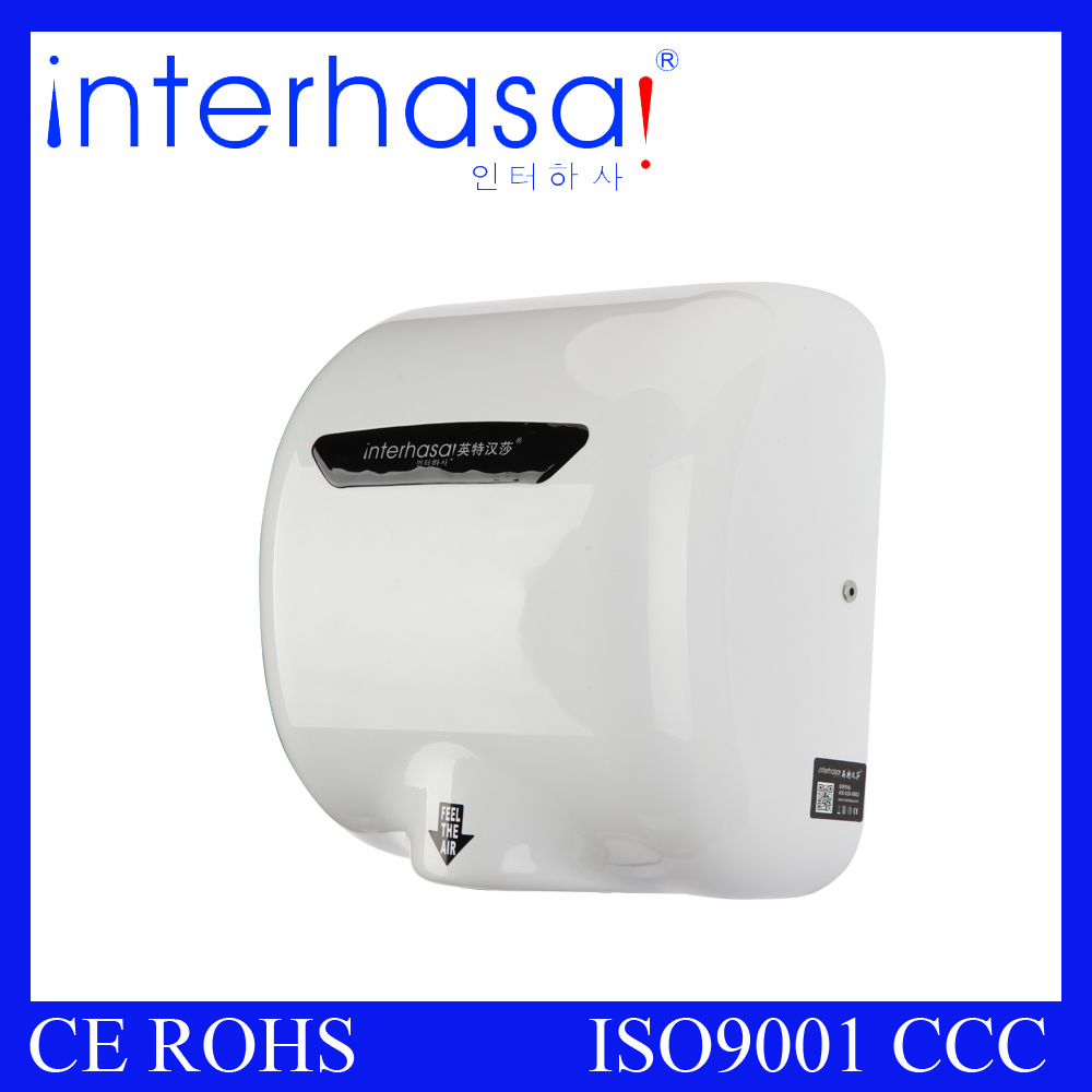 Wall-Mounted ABS High Speed 1800W CE Europe Hand Dryer