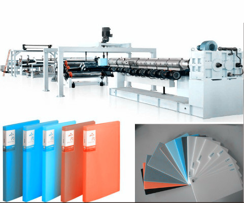 PP PE Stationery Foam Sheet Extrusion Line/ Chemical Plastic Foam Sheet Producing Machinery