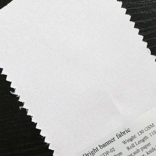 Bright White Polyester Fabric Digital Solvent Printing Banner Material