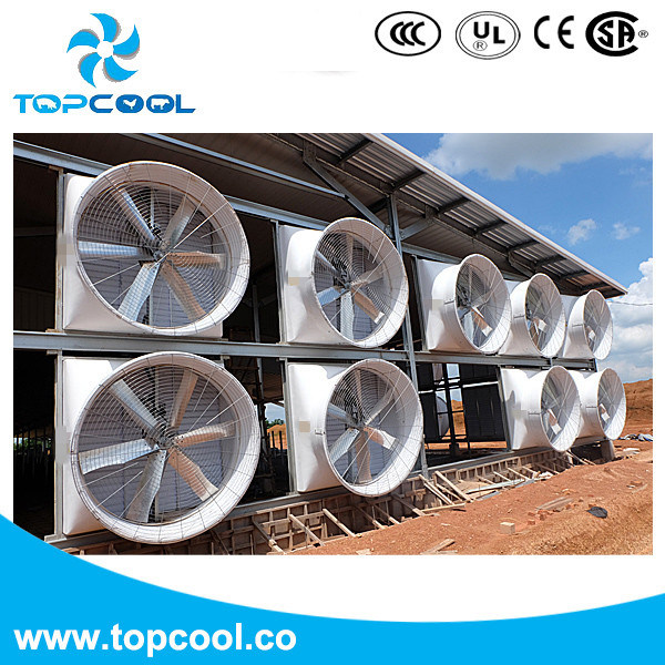 """GF 72"""" Exhaust Fan with PVC Shutter for Livestock Application with Amca Test Report"""
