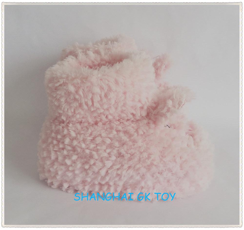 Beige Plush Rabbit Indoor Animal Shoes