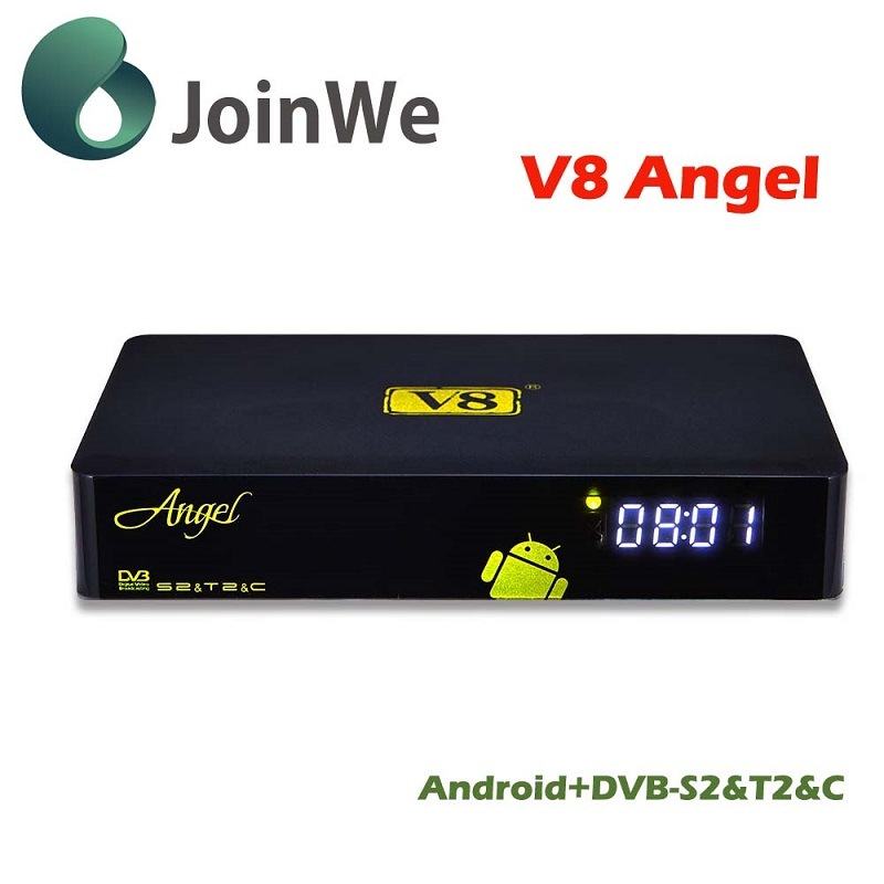 V8 Angelandroid 4.4 IPTV+DVB-S2/T2/C Best HD Satellite Receiver