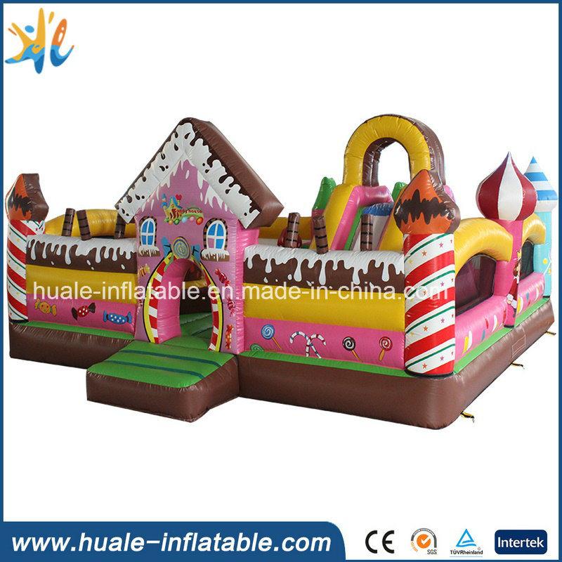 Pink Candy Kids Toy Inflatable Jumper Bouncy Castle for Kindergarten