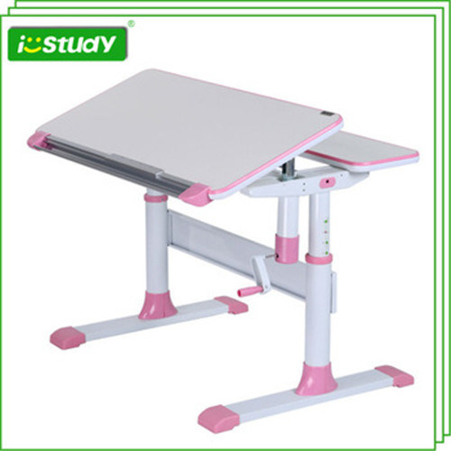 Friendly-Environment Height Adjustable Wooden Computer Table Set Hya-07