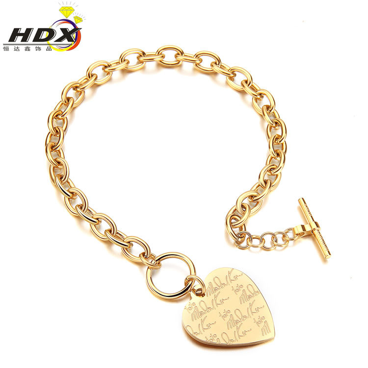Fashion Stainless Steel Jewelry Bracelets Ladies Heart Bracelets (hdx1063)