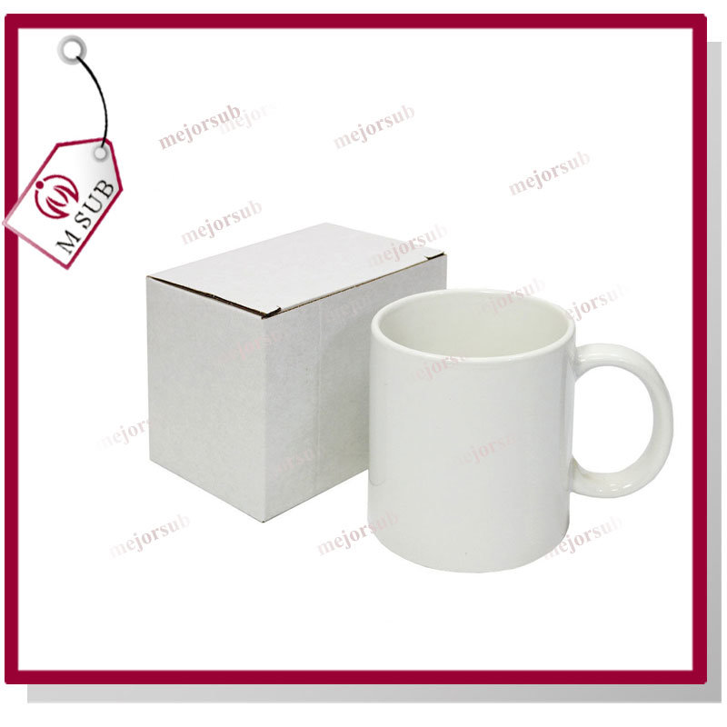 11oz Reinforce Porcelain White Mug for Sublimation Printing
