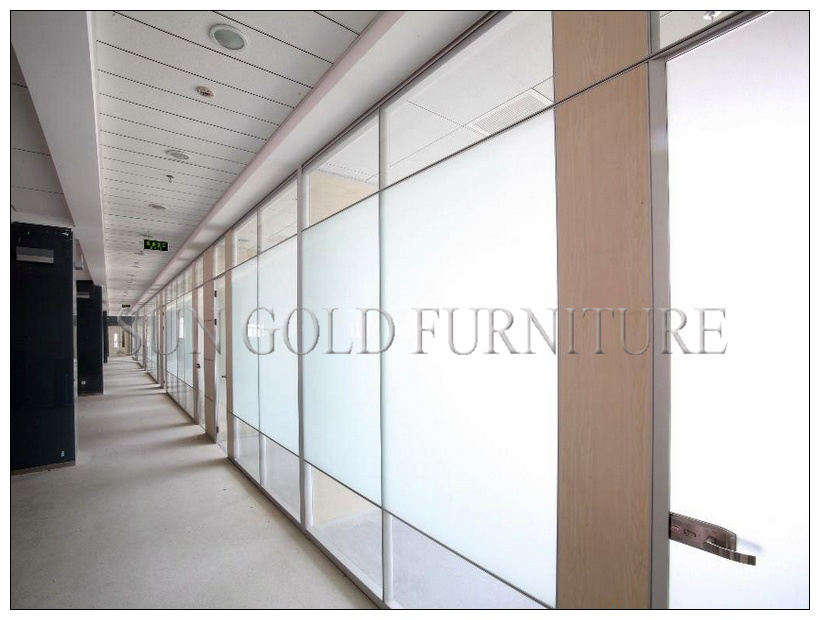 China Modern 12mm Tempered Frosted Glass Office Partition Wall (SZ WS573)    China Frosted Glass Office Partitions, Office Screen Partition