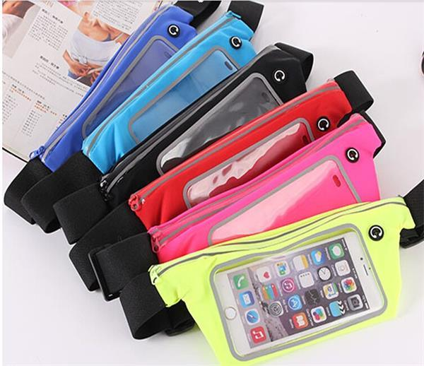 Sport Touch Screen Cell Phone Waist Belt Pack/Bag for Running
