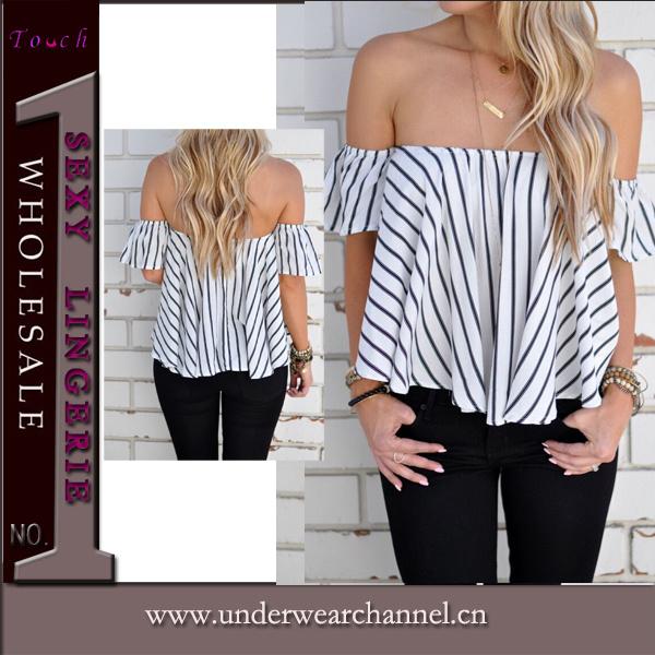 New Design Fashion Women Low Back Top Shirt (TGLDS0971)