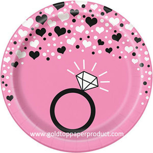 Paper Dinner Plates for Wedding Party