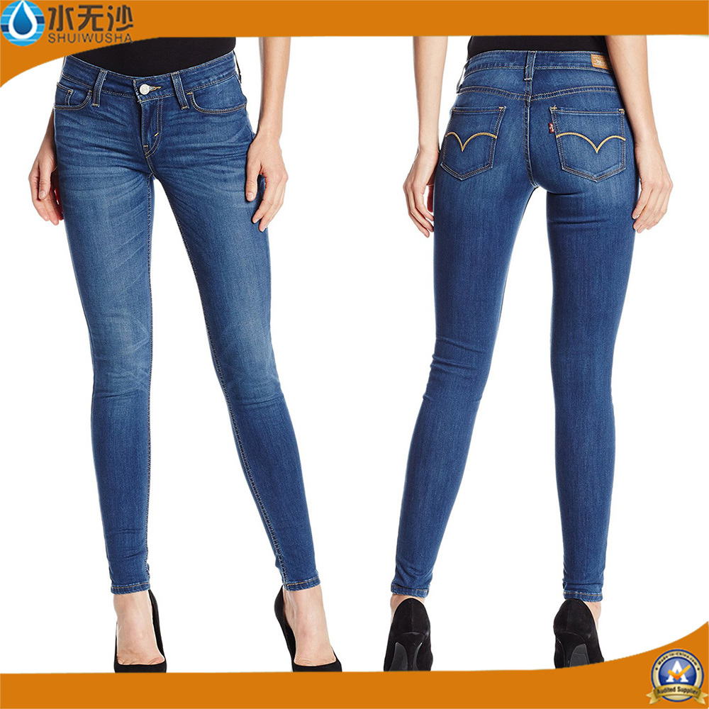 New Style Lady′s Coton Stretch Fashion Denim Jeans