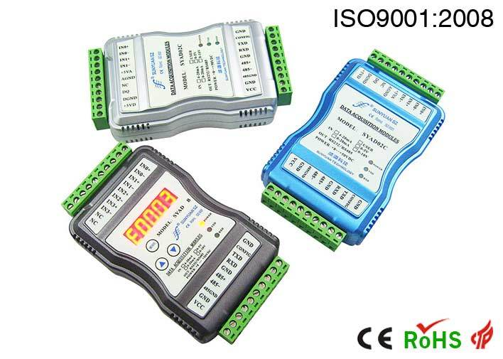 0-5V to RJ45 Ethernet Ad Converter with Modbus TCP