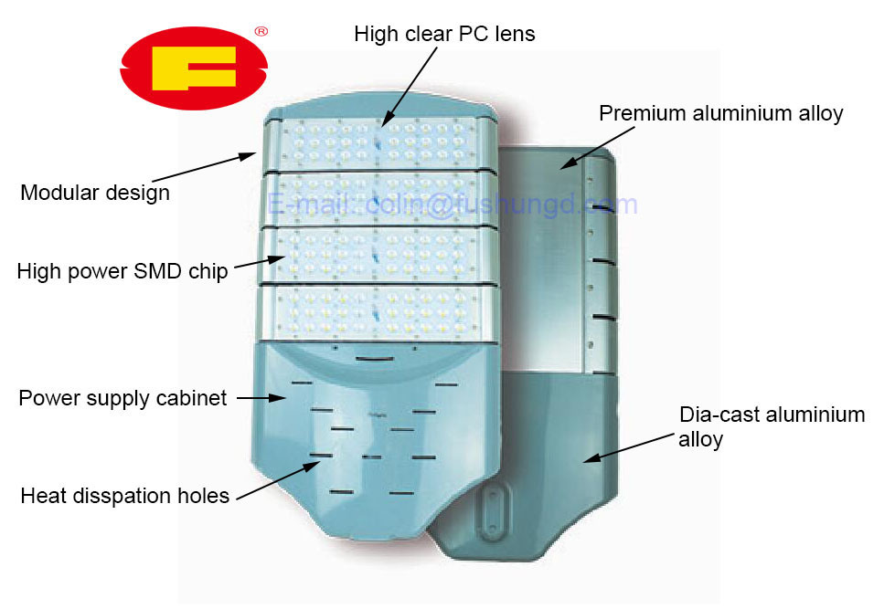High Power Street Light with LED Light Source