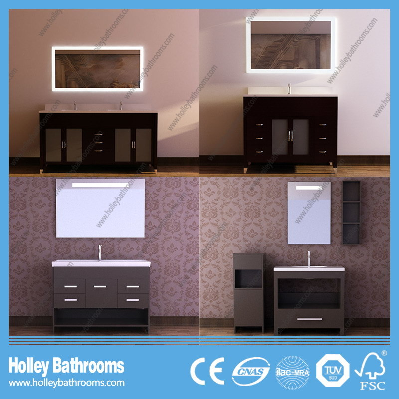 American Style Hollow Classic Solid Wood Bathroom Accessories with LED Lamp (BV186W)