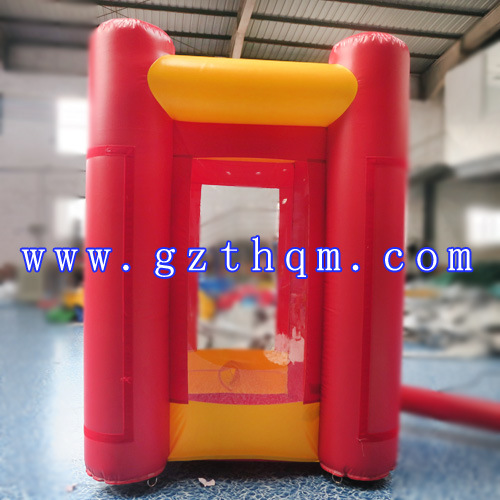 Inflatable Money Catching Machine/Event Red Cube Cash Grab Inflatable Money Booth