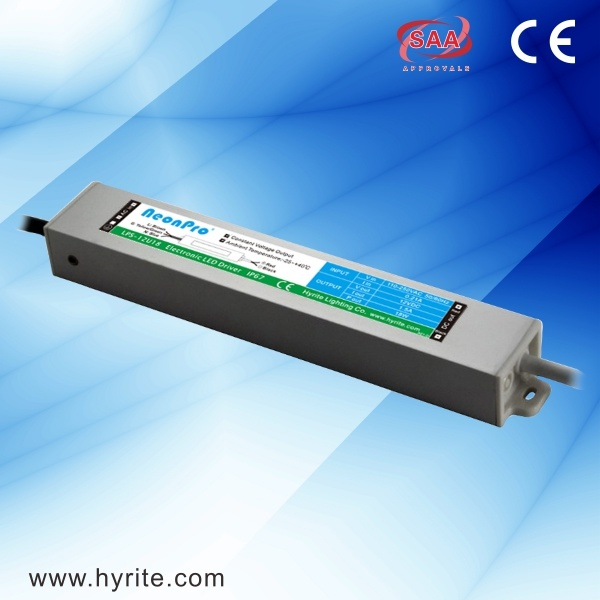 18W 12V Waterproof LED Power Source with Ce