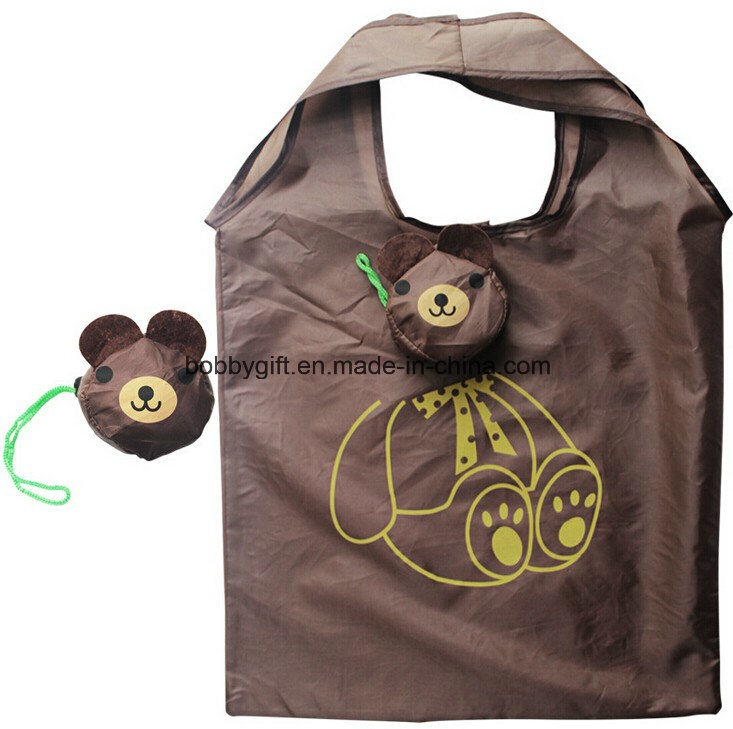 Promotional Item Fruit Foldable Handbags Polyester Shopping Bag