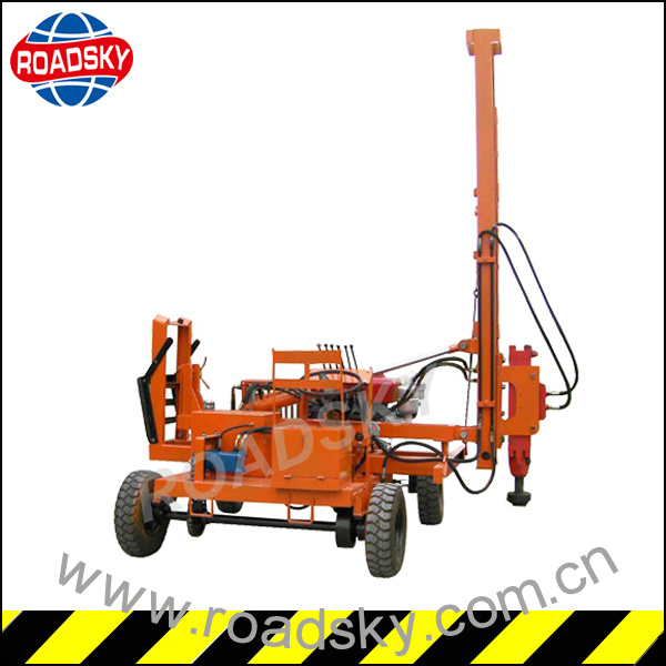 Road Safety Construction Hydraulic Guardrail Pile Driver for Sale