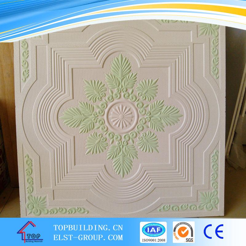 Colorful Gypsum Ceiling Tile/Fiber Glass Gypsum Ceiling/Gypsum Board/595*595*9mm
