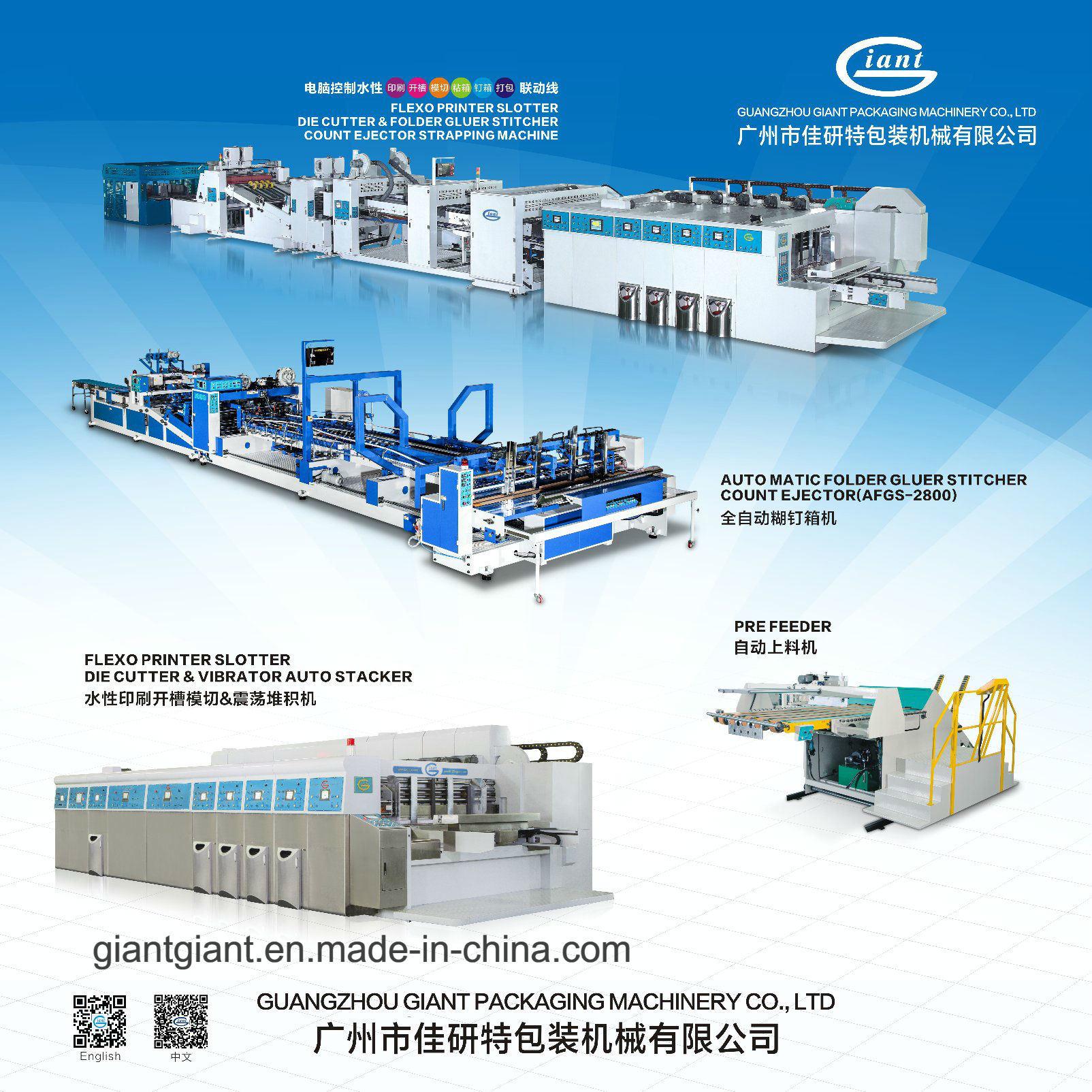 Carton Machine-Flexo Printer Slotter Die Cutter&Folder Gluer Stitcher