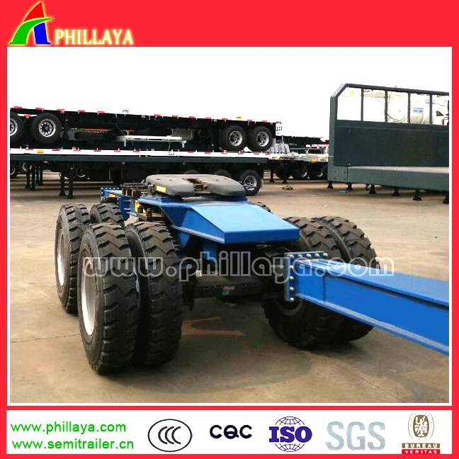 80-100tons Heavy Duty 2line 4axle Lowbed Dolly Semi Trailer