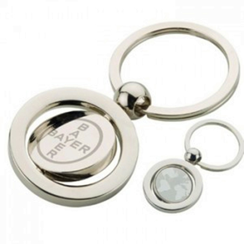 Coin Holder Metal Key Chain with Customized Logo