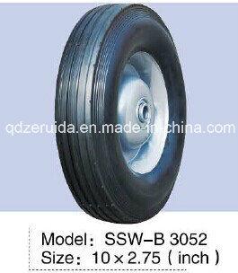10X2.75 Inch Semi Pneumatic Rubber Wheel