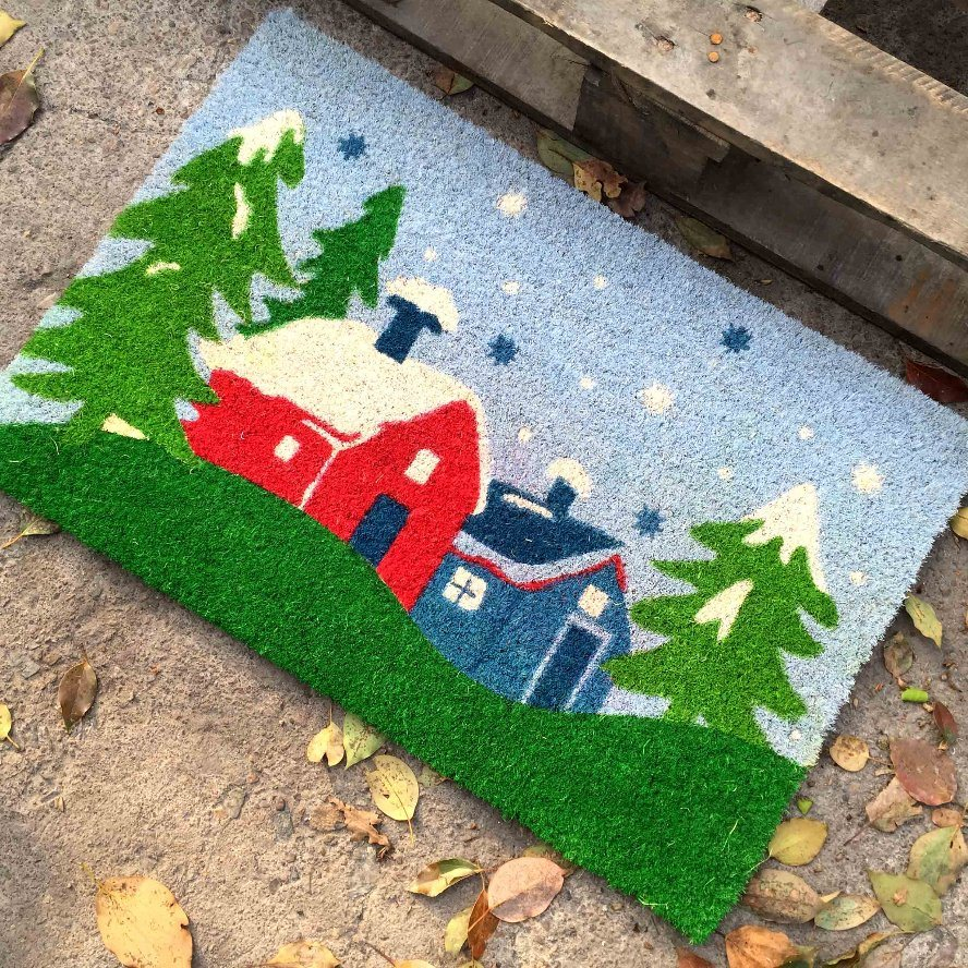 Wholesale Made in China Dye Sublimation Spray Printing Coconut Coco Coir Fiber Door Mats From Manufacturer