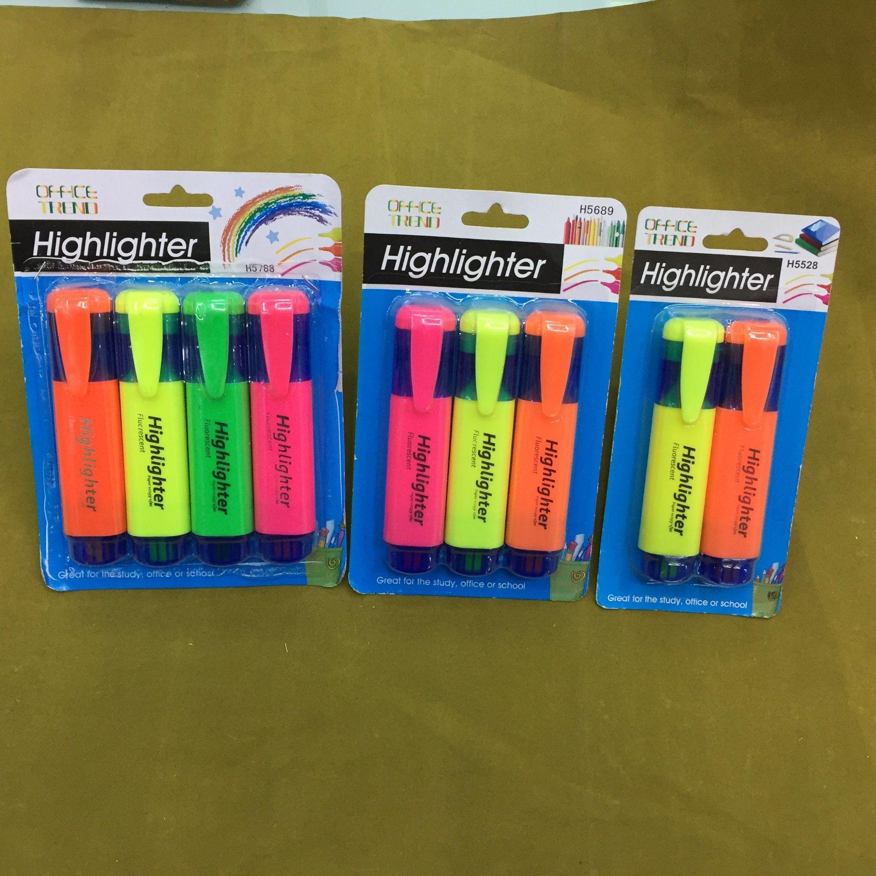 4 Colors Highlighter Pen, Fluorescent Pens