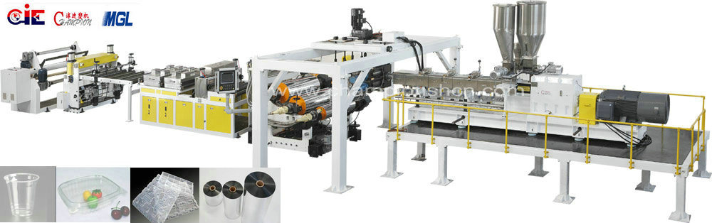 Pet Twin-Screw Plastic Sheet Extrusion/Production Line
