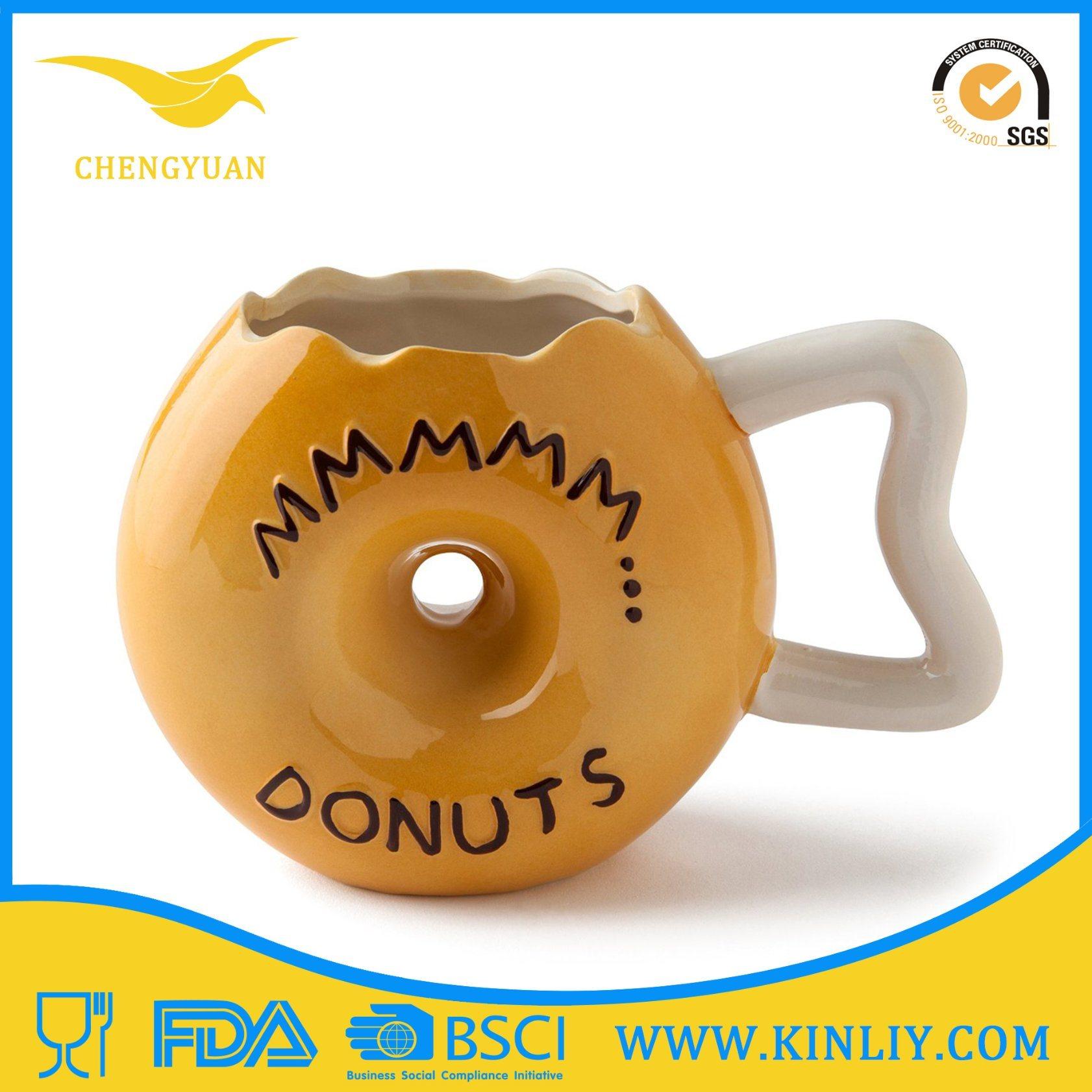 Ceramic Tea Cup Coffee Mug with Funny Grenade Design