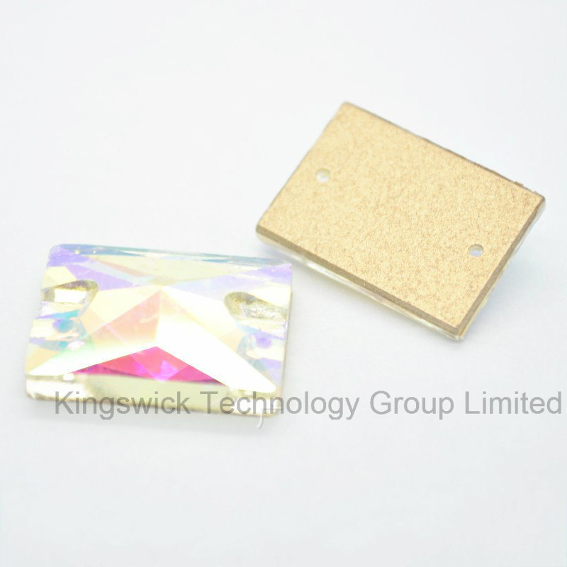 Rectangle Sew on Stone Bead for Wedding Dress Decoration